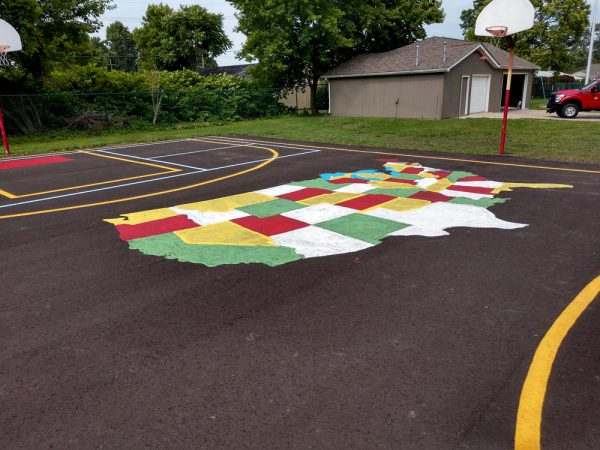 Basketball Court Map Art